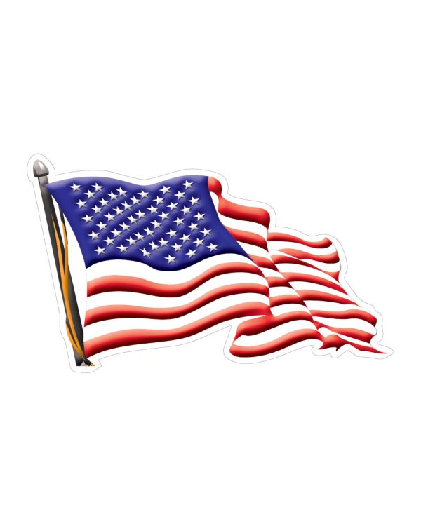 "USA American Flag Right Direction Magnet or Sticker for Indoor or Outdoor Use 7"" x 4"""