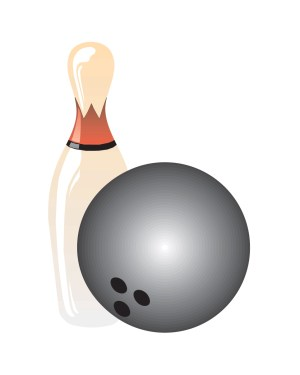 "Bowling Magnet or Sticker for Indoor or Outdoor Use 6.5"" x 4.5"""