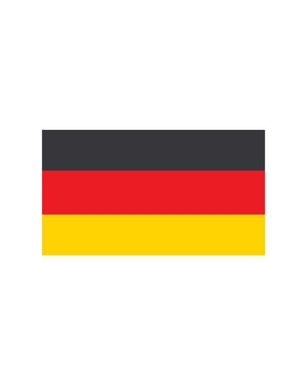 """German Flag Magnet or Sticker for Indoor or Outdoor Use 5.5"""" x 3"""""""