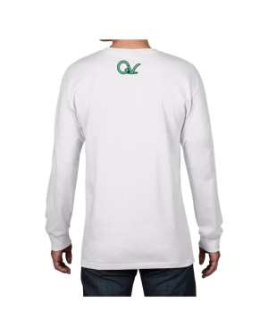 Good Vibes Multi Colored GV Layout White Long Sleeve T-shirt