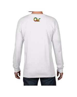 Good Vibes Rasta White Lion Logo White Long Sleeve T-shirt