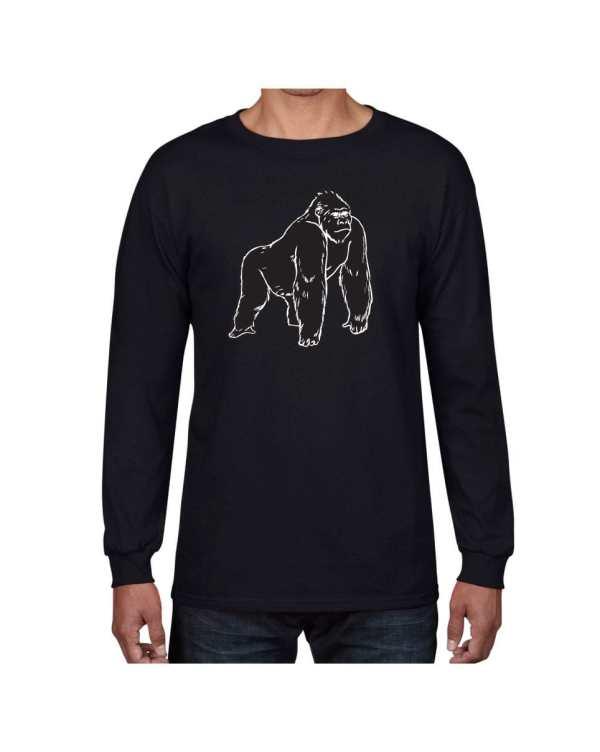 Good Vibes Black Gorilla Black Long Sleeve T-shirt