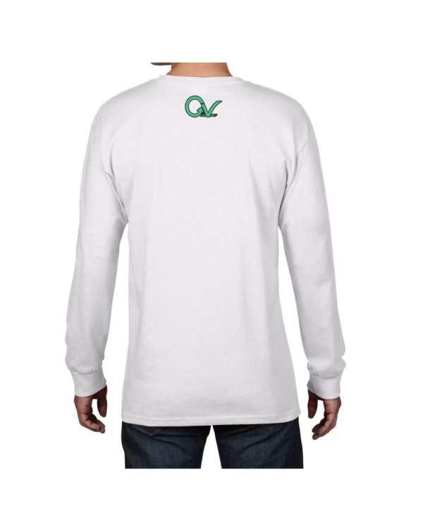 Good Vibes Dark Teal White Long Sleeve T-shirt