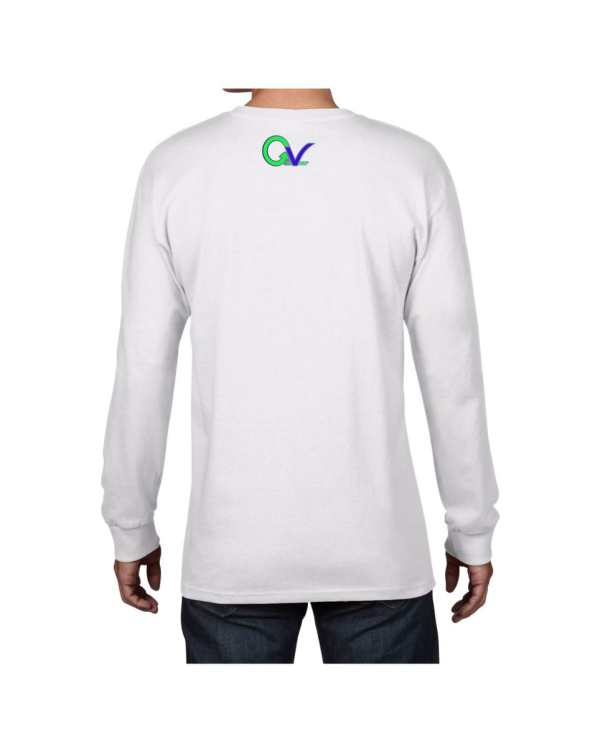 Good Vibes Green Purple Logo White Long Sleeve T-shirt