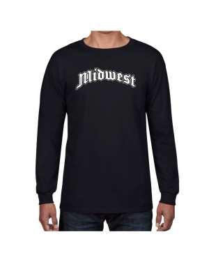 Good Vibes Midwest Black Long Sleeve T-shirt