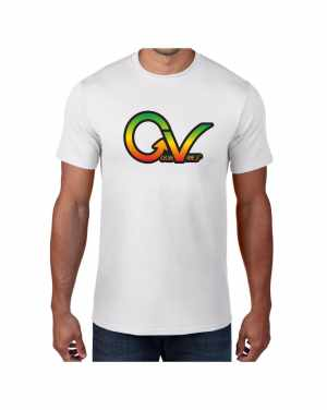 Good Vibes Rastafarian GV White T-shirt