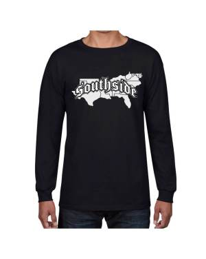 Good Vibes Southside Map Black Long Sleeve T-shirt