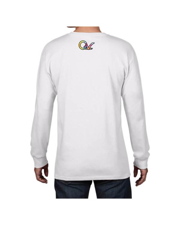 Good Vibes Tie Dye White Long Sleeve T-shirt
