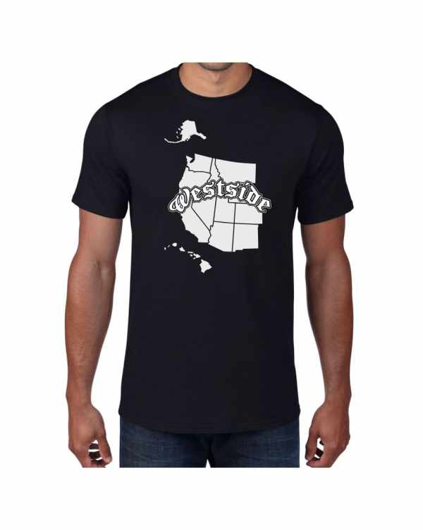 Good Vibes Westside Map Black T-shirt