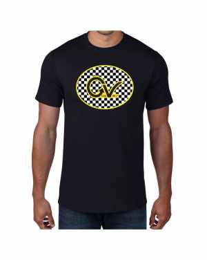Good Vibes Yellow Checker GV Black T-shirt