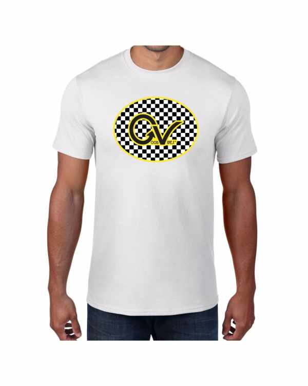 Good Vibes Yellow Checker GV White T-shirt