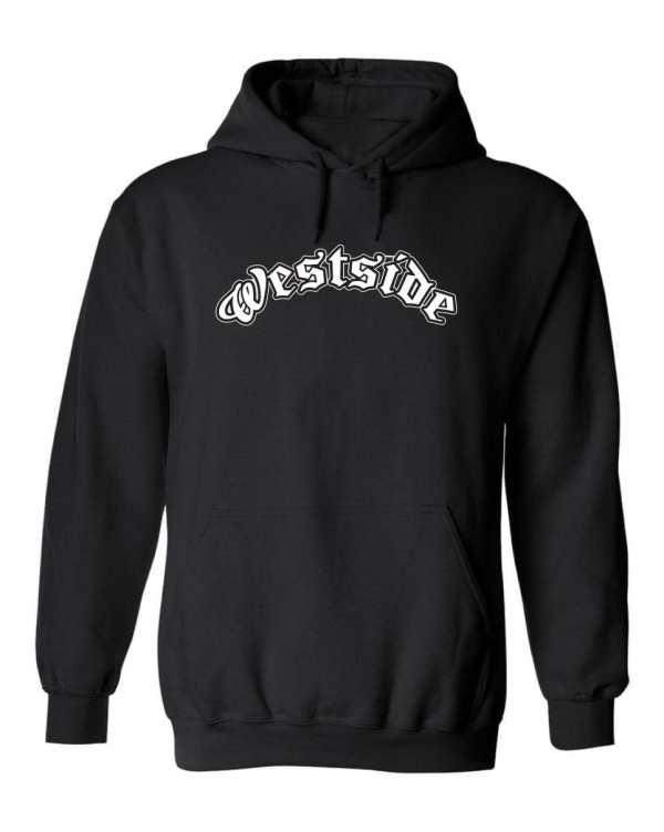 Good Vibes™ Westside Logo Unisex Hoodie. This is a Heavyweight Hoodie 50% cotton and 50% Polyester with Front pouch pocket