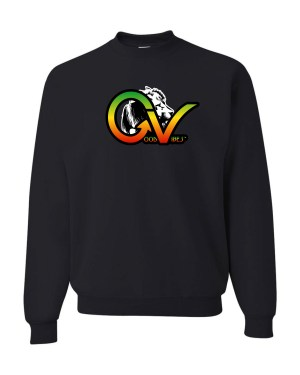 Good Vibes Rastafarian White Lion GV Black Sweatshirt