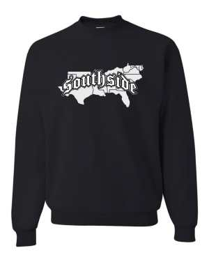 Good Vibes Southside Map Black Sweatshirt