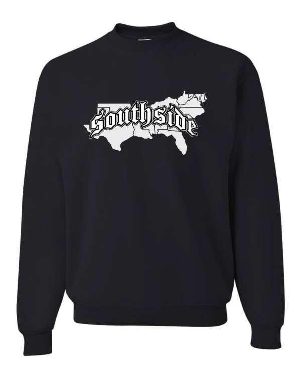 Good Vibes Southside Map Black Sweatshirt
