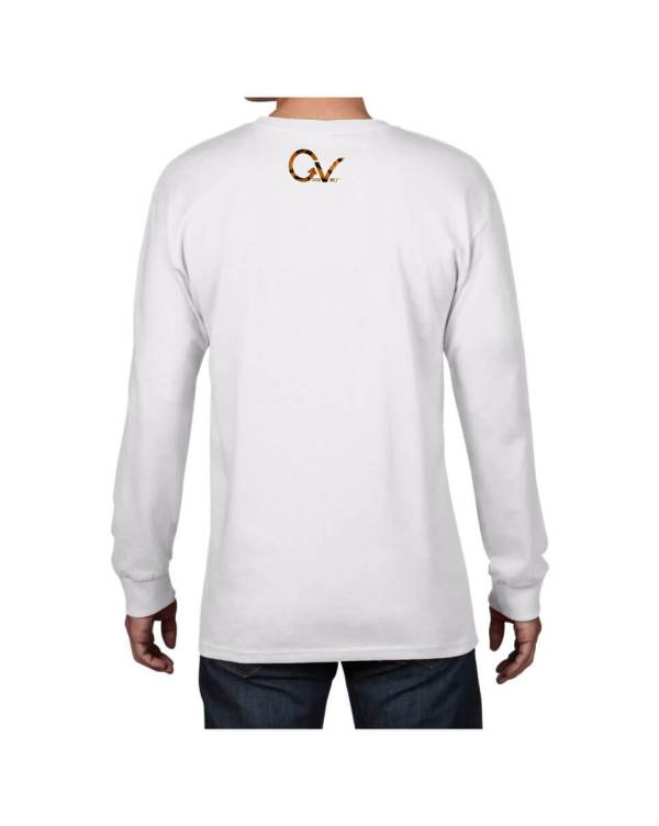 Good Vibes Tiger Claw White Long Sleeve T-shirt