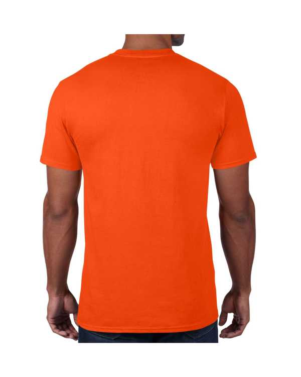 Men's Orange Plain T shirts with no decoration. 5.4 oz 100% Combed Ring-Spun Cotton. (Available in 6 Colors) Made to order from ggsgraphics.com today!