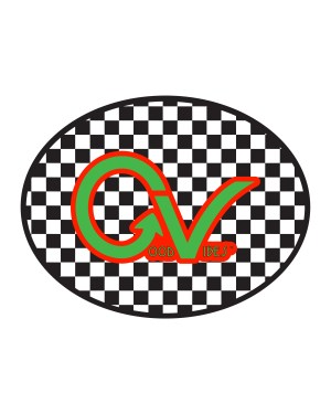 """Good Vibes Checker Green Orange Sticker for Indoor or Outdoor Use 4"""" x 3"""""""