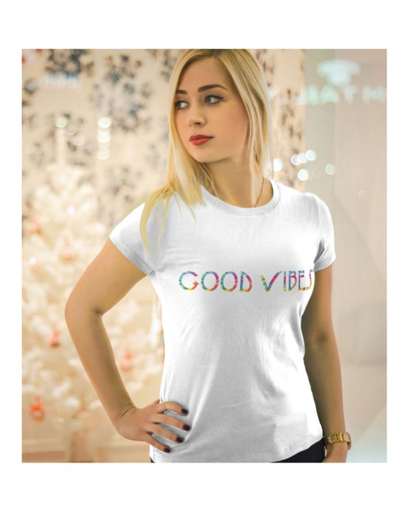 Good Vibes Tie Dye White T-shirt