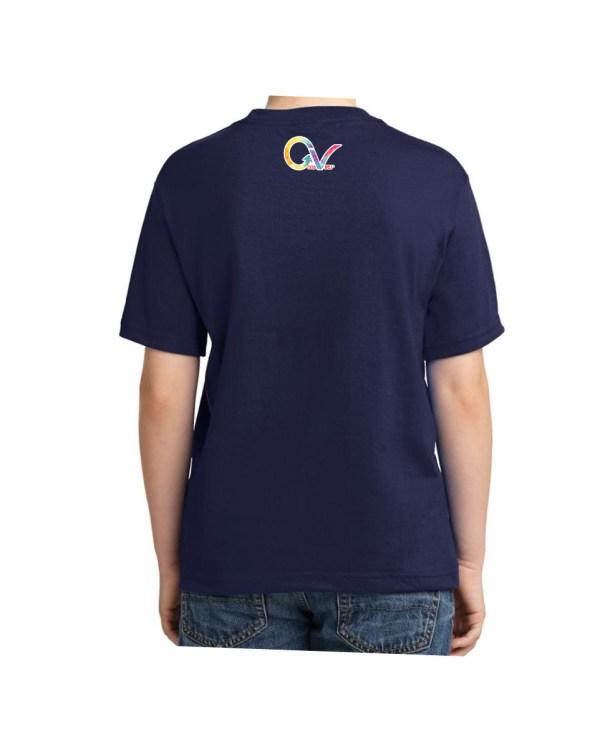Kids Tie Dye T-shirt T-shirt 5.6 oz., 50/50 Heavyweight Blend Navy T-Shirt