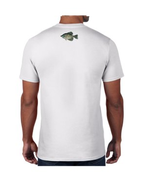 Black Crappie White T-shirt 5.6 oz., 50/50 Heavyweight Blend