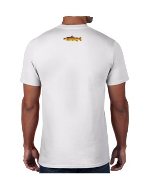 Brown Trout White T-shirt 5.6 oz., 50/50 Heavyweight Blend