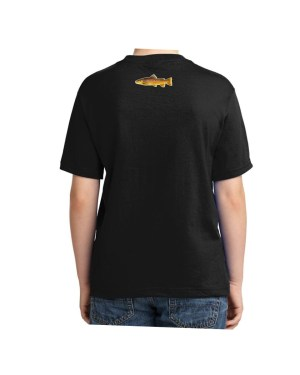 Brown Trout Black Kids Tshirt