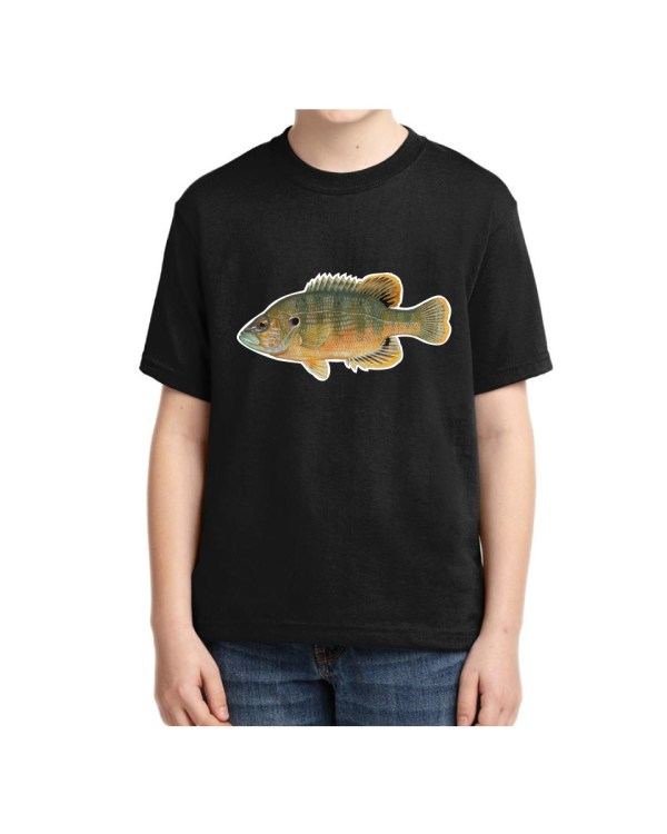 Kids Green Sunfish Kids Green Sunfish5.6 oz., 50/50 Heavyweight Blend Black T-Shirt
