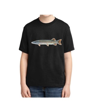Kids Muskie Black T-shirt 5.6 oz., 50/50 Heavyweight Blend
