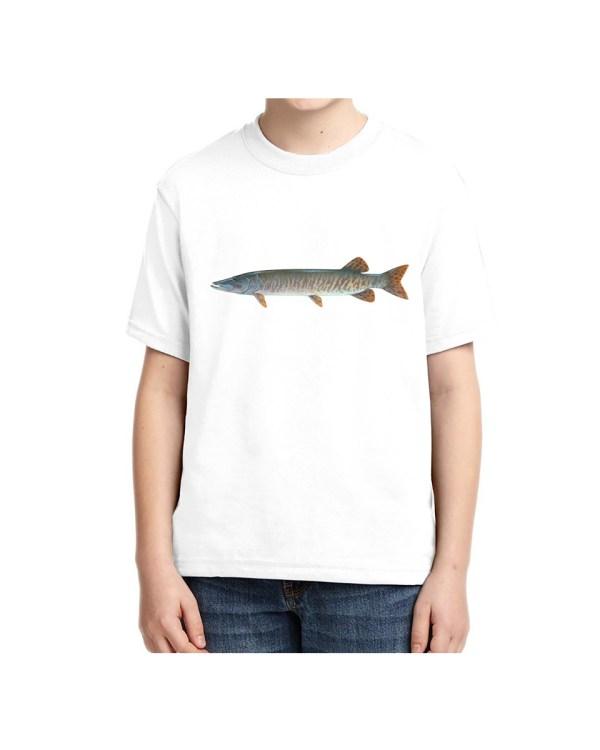 Kids Muskie White T-shirt 5.6 oz., 50/50 Heavyweight Blend