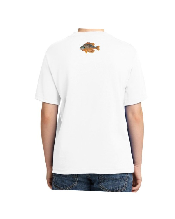 Kids Pumpkinseed White T-shirt 5.6 oz., 50/50 Heavyweight Blend