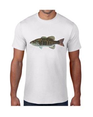 Small Mouth Bass T-shirt 5.6 oz., 50/50 Heavyweight Blend