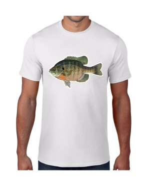 Bluegill Sunfish T-shirt 5.6 oz., 50/50 Heavyweight Blend