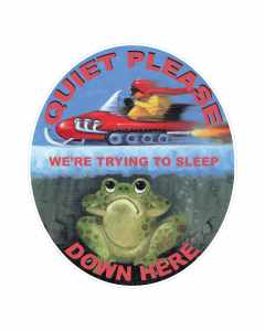 Sticker Quiet Please We're Trying To Sleep Down Here, Frogs and Snowmobiles
