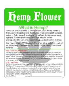 Hemp CBD Designed Label. Hire us to design and print your labels