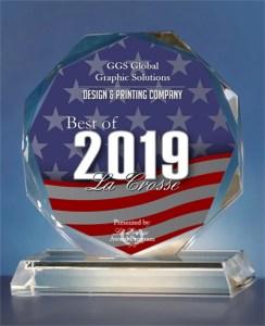 Award 2019 Best Of La Crosse Design and Printing
