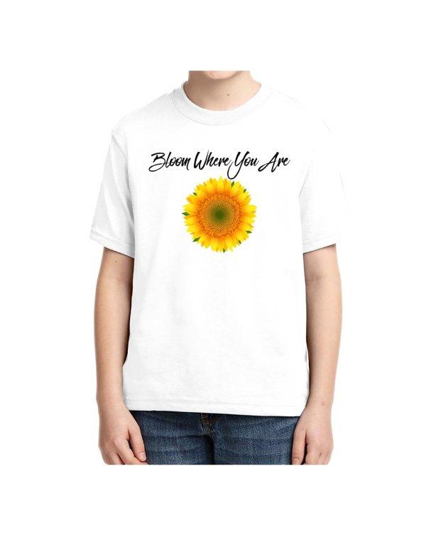 Clothing - Sunflower Bloom Kids T shirt