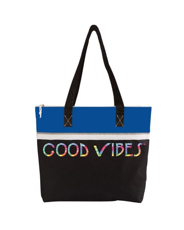 Good Vibes Tie Dye Blue Tote Bag