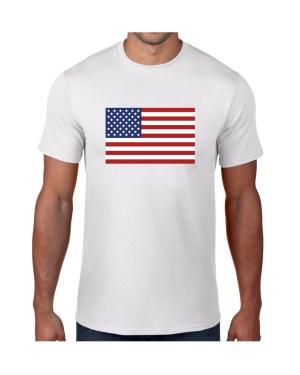 USA Mens White Tshirt