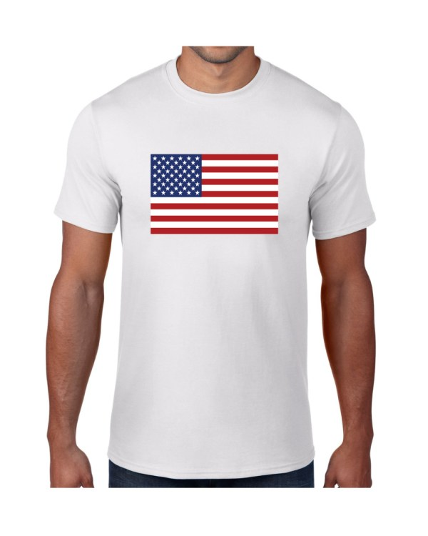 USA Mens White Tshirt
