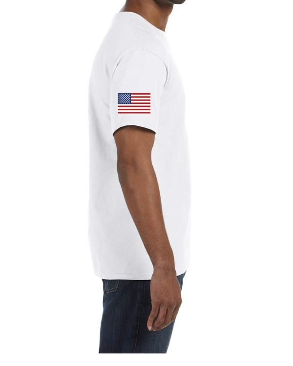 USA Mens Sleeve White
