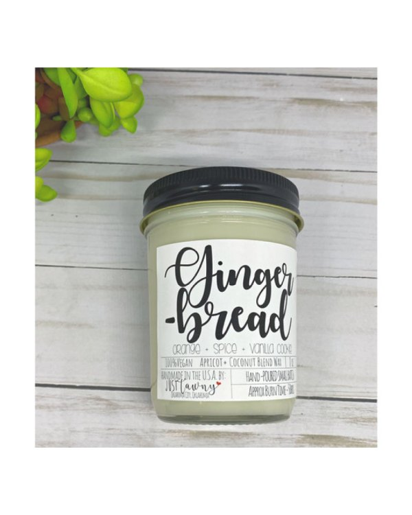 Gingerbread Candle 8 Oz Mason Jar