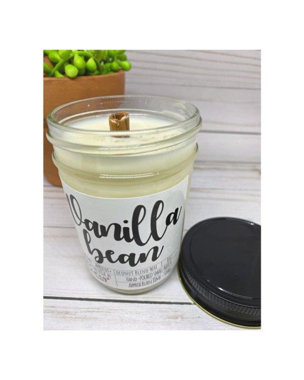 Vanilla Bean Candle. 8oz Mason Jar