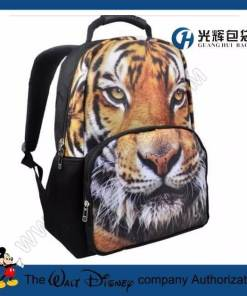 3D Animal Tiger Backpack College Student School Backpack