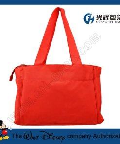 Microfiber red compact tote diaper bags