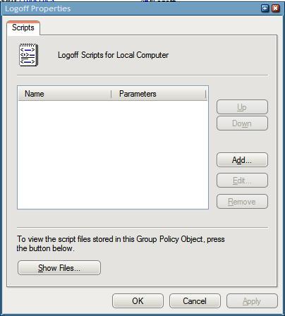 logoff scripts