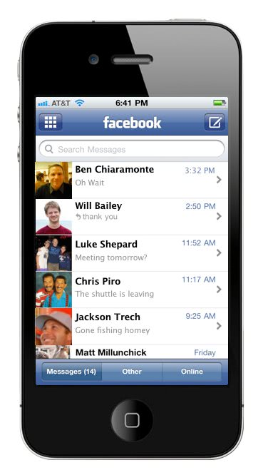 facebook messages phone