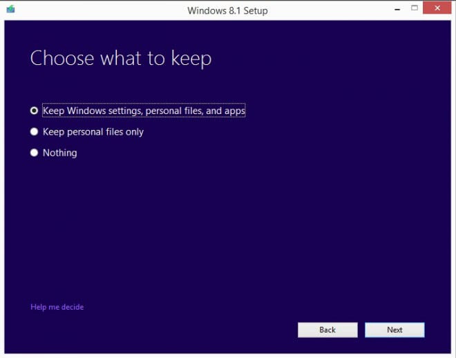 windows 8.1 update over preview