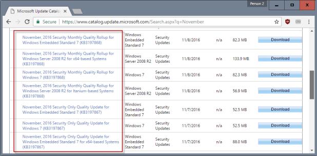 windows update terminology