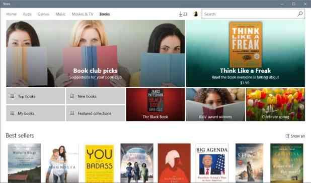 windows store ebooks